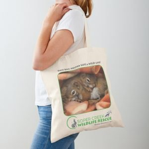 Baby Squirrels Cotton Tote Bag (and other baby animals!)